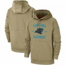 Youth Carolina Panthers Tan 2019 Salute to Service Sideline Therma Printed Pullover Hoodie