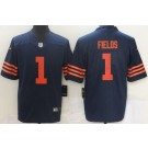 Youth Chicago Bears #1 Justin Fields Limited Navy Alternate Vapor Untouchable Jersey