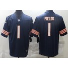 Youth Chicago Bears #1 Justin Fields Limited Navy Vapor Untouchable Jersey