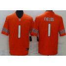 Youth Chicago Bears #1 Justin Fields Limited Orange Vapor Untouchable Jersey