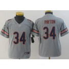 Youth Chicago Bears #34 Walter Payton Limited Gray Inverted Vapor Untouchable Jersey