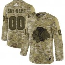Youth Chicago Blackhawks Customized Camo Authentic Jersey