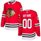 Youth Chicago Blackhawks Customized Red Authentic Jersey