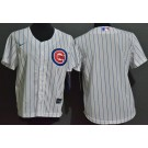 Youth Chicago Cubs Blank White Cool Base Jersey