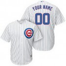 Youth Chicago Cubs Customized White Stripes Cool Base Jersey