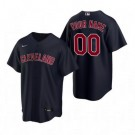 Youth Cleveland Indians Customized Navy Alternate 2020 Cool Base Jersey