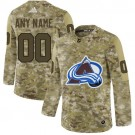 Youth Colorado Avalanche Customized Camo Fashion Authentic Jersey