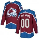Youth Colorado Avalanche Customized Red Authentic Jersey