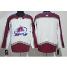 Youth Colorado Avalanche Customized White Authentic Jersey