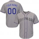 Youth Colorado Rockies Customized Gray Cool Base Jersey