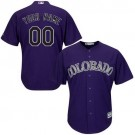 Youth Colorado Rockies Customized Purle Cool Base Jersey