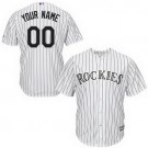 Youth Colorado Rockies Customized White Stripes Cool Base Jersey