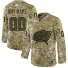 Youth Columbus Blue Jackets Customized Camo Authentic Jersey