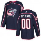 Youth Columbus Blue Jackets Customized Navy Blue Authentic Jersey