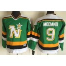 Youth Dallas Stars #9 Mike Modano Green Throwback Jersey
