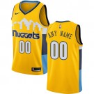 Youth Denver Nuggets Customized Yellow Icon Swingman Nike Jersey