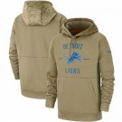Youth Detroit Lions Tan 2019 Salute to Service Sideline Therma Printed Pullover Hoodie