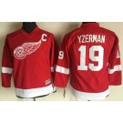 Youth Detroit Red Wings #19 Steve Yzerman Red Throwback Jersey