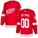 Youth Detroit Red Wings Customized Red Authentic Jersey