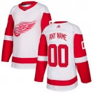 Youth Detroit Red Wings Customized White Authentic Jersey