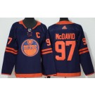 Youth Edmonton Oilers #97 Connor McDavid Navy 50th Anniversary Authentic Jersey
