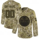 Youth Edmonton Oilers Customized Camo Authentic Jersey