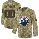 Youth Edmonton Oilers Customized Camo Fashion Authentic Jersey