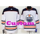 Youth Edmonton Oilers Customized White Authentic Jersey