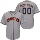 Youth Houston Astros Customized Gray Cool Base Jersey
