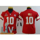Youth Kansas City Chiefs #10 Tyreek Hill Limited Red 2021 Super Bowl LV Bound Vapor Untouchable Jersey