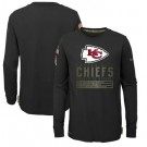 Youth Kansas City Chiefs Black 2020 Salute To Service Long Sleeves T Shirt