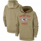Youth Kansas City Chiefs Tan 2019 Salute to Service Sideline Therma Printed Pullover Hoodie
