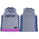 Youth Kentucky Wildcats Customized  White College Basketball Jersey