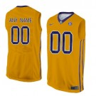 Youth LSU Tigers Customized Yellow College Basketball Jersey