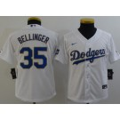 Youth Los Angeles Dodgers #35 Cody Bellinger White 2021 Gold Program Cool Base Jersey