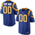 Youth Los Angeles Rams Customized Game Blue Yellow Jersey