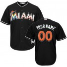 Youth Miami Marlins Customized Black Cool Base Jersey