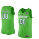 Youth Michigan State Spartans Customized Apple Green College Basketball Jersey