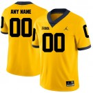 Youth Michigan Wolverines Customized Yellow Rush 2017 College Football Jersey