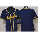 Youth Milwaukee Brewers Blank Navy Alternate Cool Base Jersey