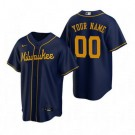 Youth Milwaukee Brewers Customized Navy Alternate 2020 Cool Base Jersey