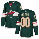 Youth Minnesota Wild Customized Green Authentic Jersey