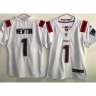 Youth New England Patriots #1 Cam Newton Limited White 2020 Vapor Untouchable Jersey