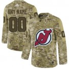 Youth New Jersey Devils Customized Camo Fashion Authentic Jersey