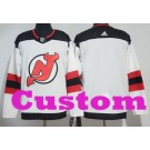 Youth New Jersey Devils Customized White Authentic Jersey