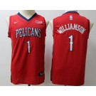 Youth New Orleans Pelicans #1 Zion Williamson Red Icon Sponsor Swingman Jersey