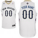 Youth New Orleans Pelicans Customized White Swingman Adidas Jersey
