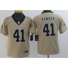 Youth New Orleans Saints #41 Alvin Kamara Limited Gold Inverted Vapor Untouchable Jersey