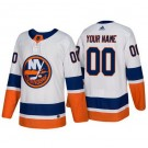 Youth New York Islanders Customized White Authentic Jersey