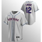 Youth New York Mets #12 Francisco Lindor Gray Cool Base Jersey